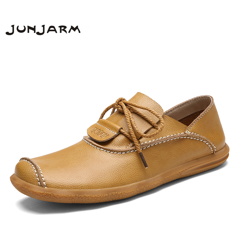 JUNJARM 2017 Handmade Split Leather Men Flat Shoes Breathable Men Casual Shoes High Quality British Style Lace-up Leisure Shoes 2017 simple common projects breathable lace up handmade leather shoes casual leather shoes party shoes men winter shoes