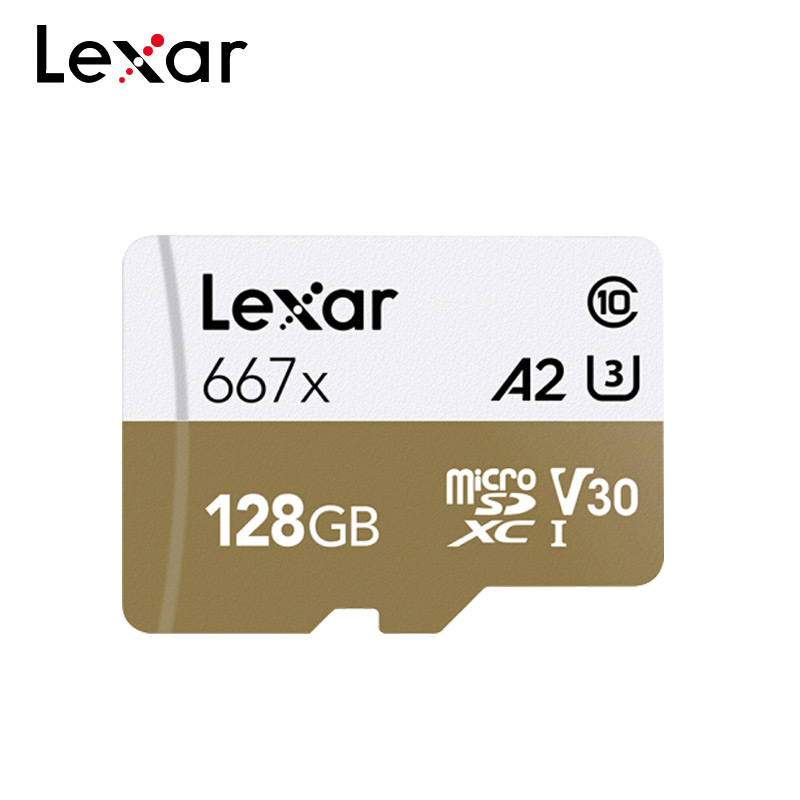 Lexar Micro SD Card 100% Original Memory Card 128GB Professional TF Card Max 90MB/s V30 667x C10 Flash Card A2 U3 For 4K Video