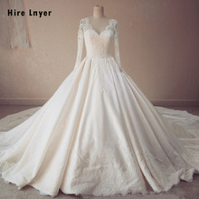 HIRE LNYER Long Sleeve Ball Gown Wedding Dress 2019