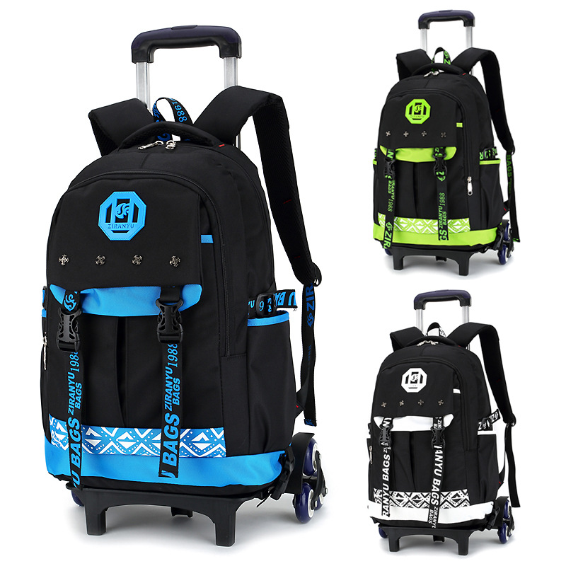 New 2018 Waterproof Trolley School Backpack Boys Children School Bag Wheels Travel Bag Luggage Backpack Kids Rolling Schoolbags mshare poly gel set nails polygel kit quick building builder extension gel camouflage uv led lacquer brush nail tips