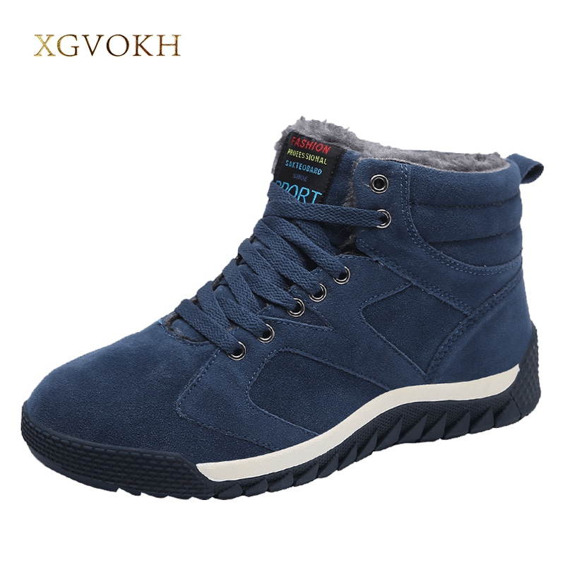 Men Boots Winter Warm motocycle boot Mens sneakers Outdoor Faux Suede shoes Casual Man Footwear Male Rubber autumn Flats plush casual suede shoes boots mens flat with winter comfortable warm men travel shoes patchwork male zapatos hombre sg083