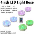 10 Pieces /lot Multi-color Wedding Decoration Round 4 inch Led Light Base for Party/Weding Decoration