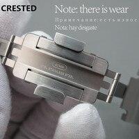 Хохлатая оригинальная натуральная для наручных часов Apple watch, версии 44 мм 40 мм Нержавеющаясталь соединяющий ремешок браслета наручных часо