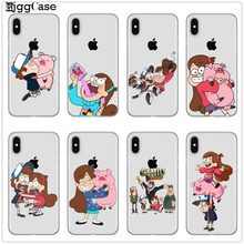 funny Cartoon Anime Gravity Falls pig Soft silicone Phone Cover Case For Coque Apple iPhone 6 6S 7 8 Plus X XS Max XR 5 5S SE(China)