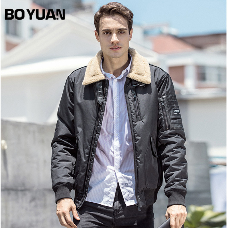 BOYUAN 2017 New Arrival Parka Brand Clothing Winter Men Polyester Winter Warm Regular Solid Casual Jackets And Coats Men DSW2529