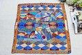 100% de seda mujeres bufanda cuadrada, Material : seda de la tela cruzada tamaño : 88 x 88, Thickness14mm geométricas Orange