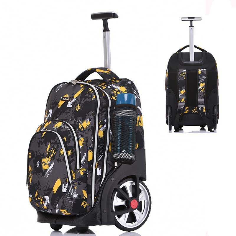 LeTrend wheel Climbing stairs Travel Bags Rolling Luggage Multifunction Students Shoulder Suitcase Wheels Carry Ons Trolley