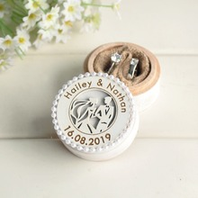 Rustic Wooden Ring Box,Personalized Wedding Ring Bearer Box,Wedding & Engagement Ring Holder,Proposal Box,Jewelry Box round wooden wedding ring jewelry trinket box wood storage container case holder