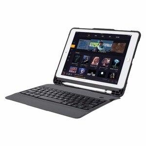 Image 2 - Per Il caso del iPad 9.7 2017 2018 Ultra sottile Tastiera Senza Fili di Bluetooth della copertura di Caso Per iPad 5/6/Aria/Aria 2 / Pro 9.7