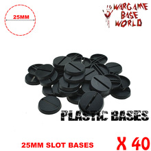 Round slot bases for Gaming Miniatures and other wargames 40PCS 25mm slot bases