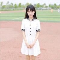 S-XXL Japon Anime Sailor Cosplay Kostüm Elbise Denizci Tarzı Okul Üniforma Elbise Sıcak Öğrenciler OY-G1023