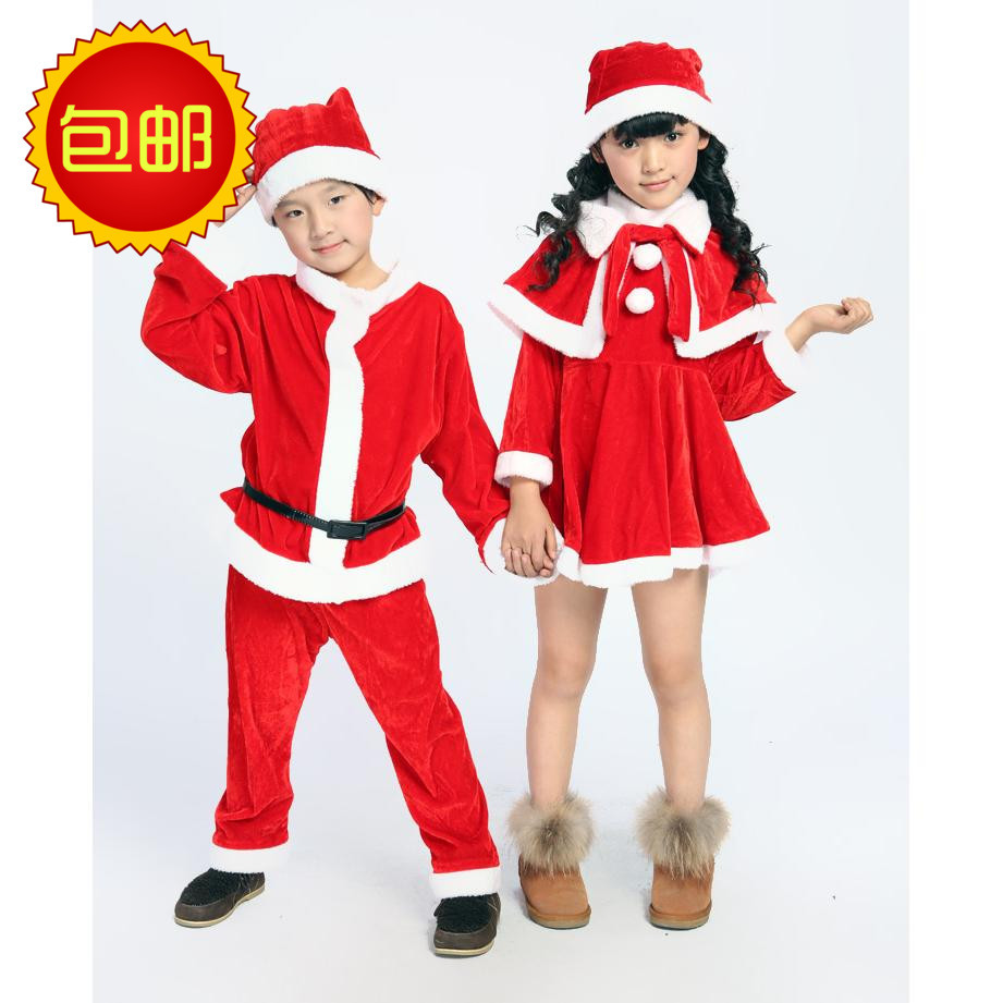 Christmas Childrens Clothing Santa Claus Professional Performance The Traditional Gifts In Kids Costumes Accessories From Novelty