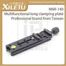 XILETU NNR 140 placa de sujeción larga multifuncional 140mm Nodal trípode de diapositivas Rail Placa de liberación rápida accesorios de fotografía
