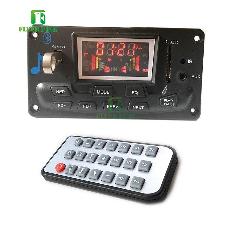 Bluetooth led música áudio indicador de espectro ape mp3 placa nível indicador vu medidor velocidade flac wma receptor fm módulo app no carroCircuitos integrados   -