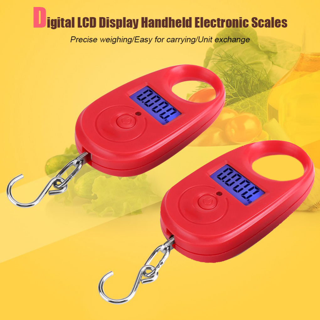 25kg*5g Mini Digital Scale Electronic Hanging Luggage Scale Accurate Fishing Pocket Weighing Scale LCD Display