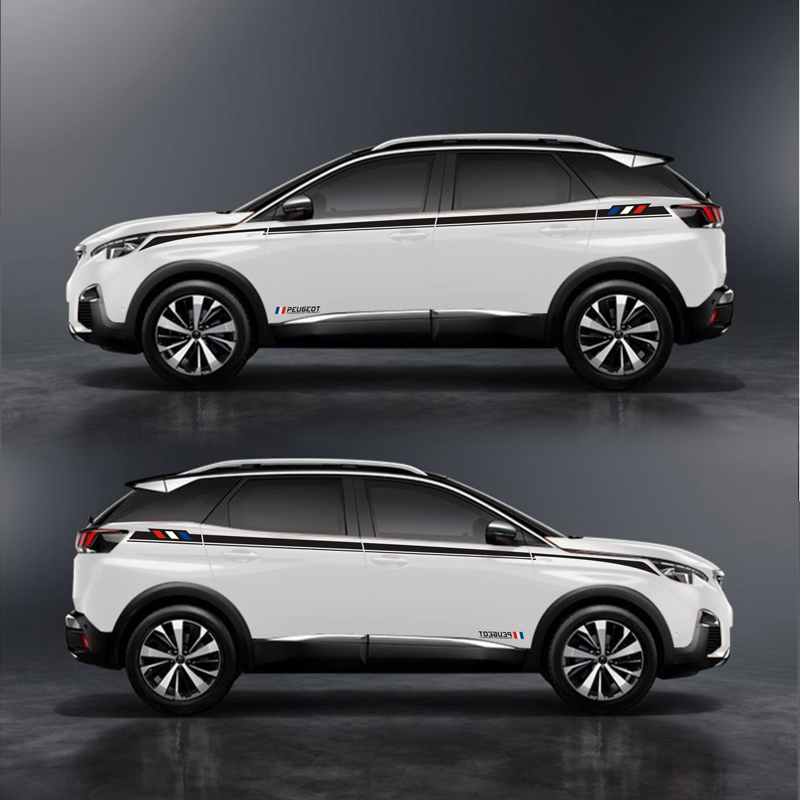 TAIYAO car styling sport car sticker car accessories for PEUGEOT 3008 3008GT 2017 4008 5008 2018 Both Side Sticker Car-styling