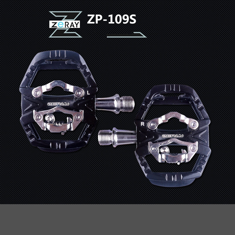 NEW ZP-109S Cycling Road Bike MTB Clipless Pedal Self-locking Pedals SPD Compatible Pedals Bike Parts Multifunctional pedal 2015 exustar mtb bike bicycle clipless pedals e pm215ti ti spindle cycle pedal bmx pedal self locking cycling pedal titanium