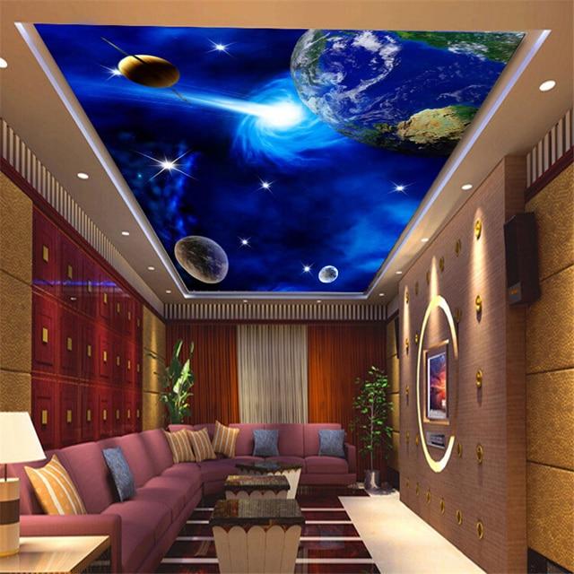 Drei Dimensionale Tapete Decke Zimecke Schlafzimmer Wohnzimmer Zimmer Hotel Wandmalereien Das Universum Sternenhimmel