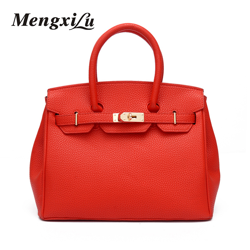 ФОТО MENGXILU 2017 Fashion Women Shoulder Bags Luxury Handbags Women Bags Designer Bags Handbags Women Famous Brands Big Cossbody Bag