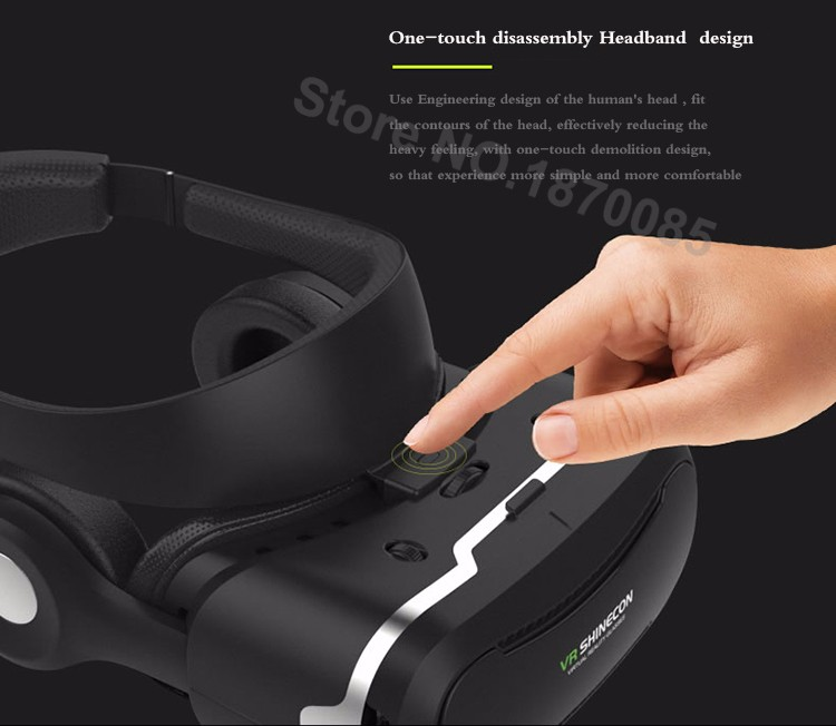 Newest VR Shinecon 4.0 Google cardboard VR BOX with Headphone VR Virtual Reality 3D Glasses PK Z4 For 4.5-6.0 inch Smartphone (7)