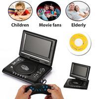 Cewaal New Echt HD 7 ''zoll LCD Display VCD DVD Medien Player Eu-stecker Portable Unterstützung Mp3-player Professionelle Musik Boy Kid geschenk