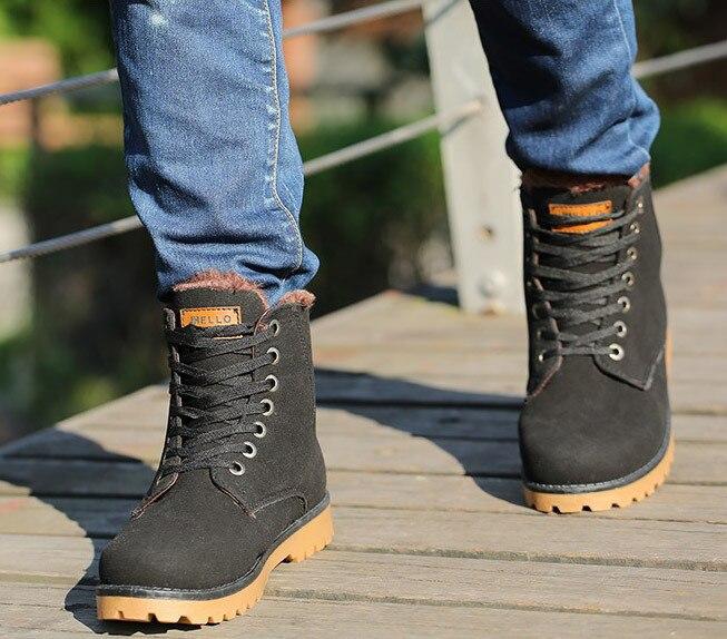 Online Shop Men winter boots botas masculina 2015 hot fashion ...