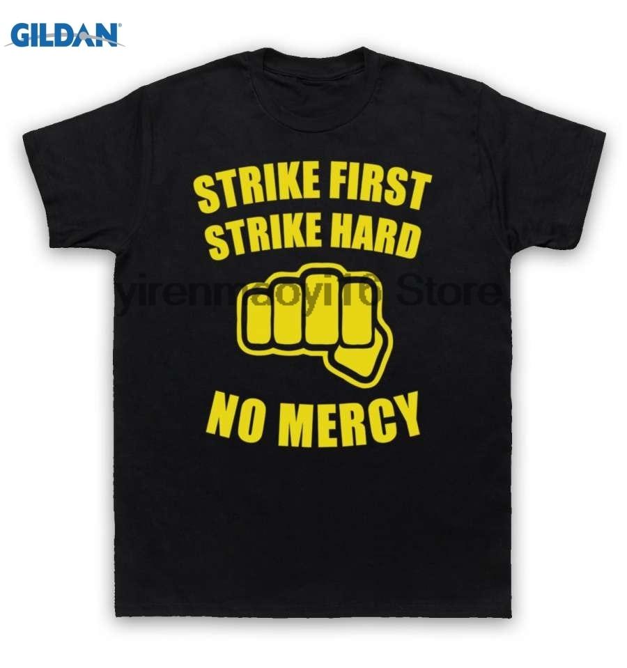 Возьмите хлопок o-образным вырезом Печать Мода футболка karate kid футболка No Mercy