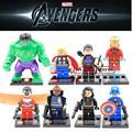 SY161 Superhéroes Los Vengadores Iron Man Hulk Thor Capitán América Mejor Niños Juguetes de Aprendizaje de Educación