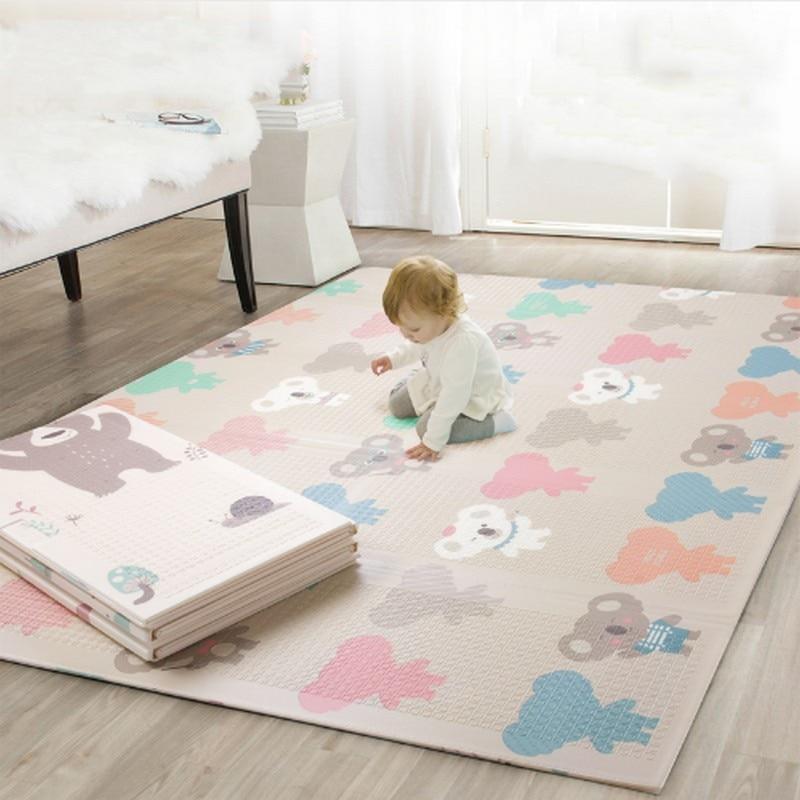 2018 nouveau tapis de jeu bébé pliable épaissi Tapete Infantil maison bébé chambre Puzzle Mat150X200CM épissage 1 CM épaisseur tapis de jeu