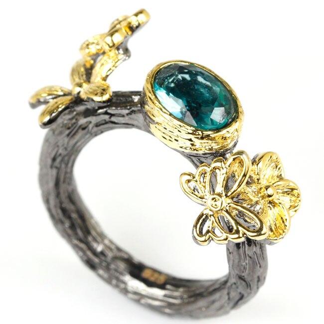 аквамарин каменное кольцо