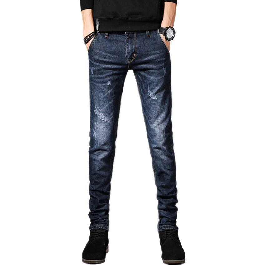 2018 New Mens Jeans Blue Black Size 27 28 29 30 31 32 33 36 Fashion Business Casual Man Trousers Teen Slim Elegant Cotton Pants