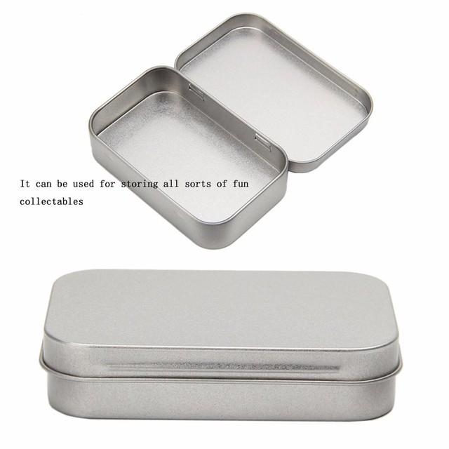 Superior Small Metal Tin Silver Flip Storage Box Case Organizer For Money Coin Candy  Key