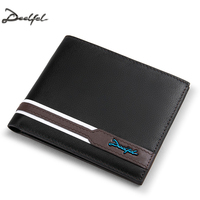 DEELFEL Genuine Leather Men Wallets And Purses Coin Purse Man Famous Small Short Portomonee Mini Male
