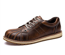 FMZXG AFG 121-130 New Autumn Leather Oxfords Shoes Business Man Casual Flats Men Shoes Comfortable Round Work Classic Martin