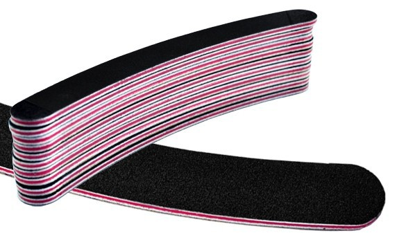 Nail-File-Buffer-Buffing-Grit-curve-Thickened-black-Professional-Crescent-Slim-Sandpaper-Manicure-tool-Free-Shipping (1)