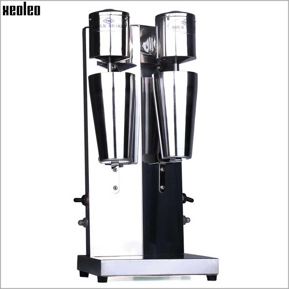 Image 3 - Xeoleo Milkshake machine Stainless Steel Milk Shake Machine Double Head Drink mixer Make Milks Foam/Milkshake Bubble Tea Machine-in Blenders from Home Appliances