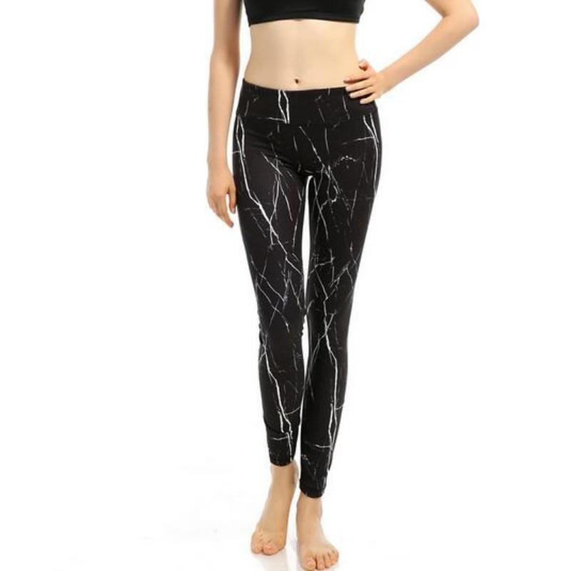 Livraison gratuite impression fleur noir Yoga Leggings Sport femmes Fitness Sport pantalon pour femmes Flexible Sportswear formation pantalon