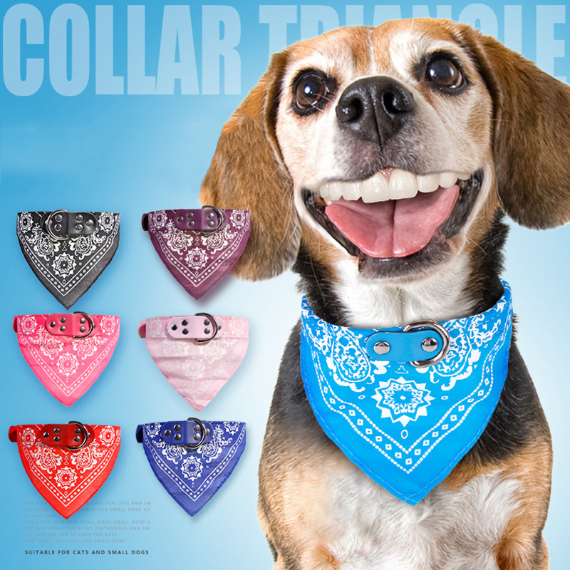 2017 Bandana Pet Dog Scarf Collar for Small Dogs Collar Adjustable Cute Puppy Cat Tie printed fashion Neckerchief Pet Supplies