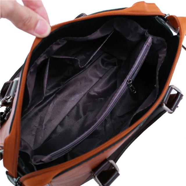 Luxury leather bag set