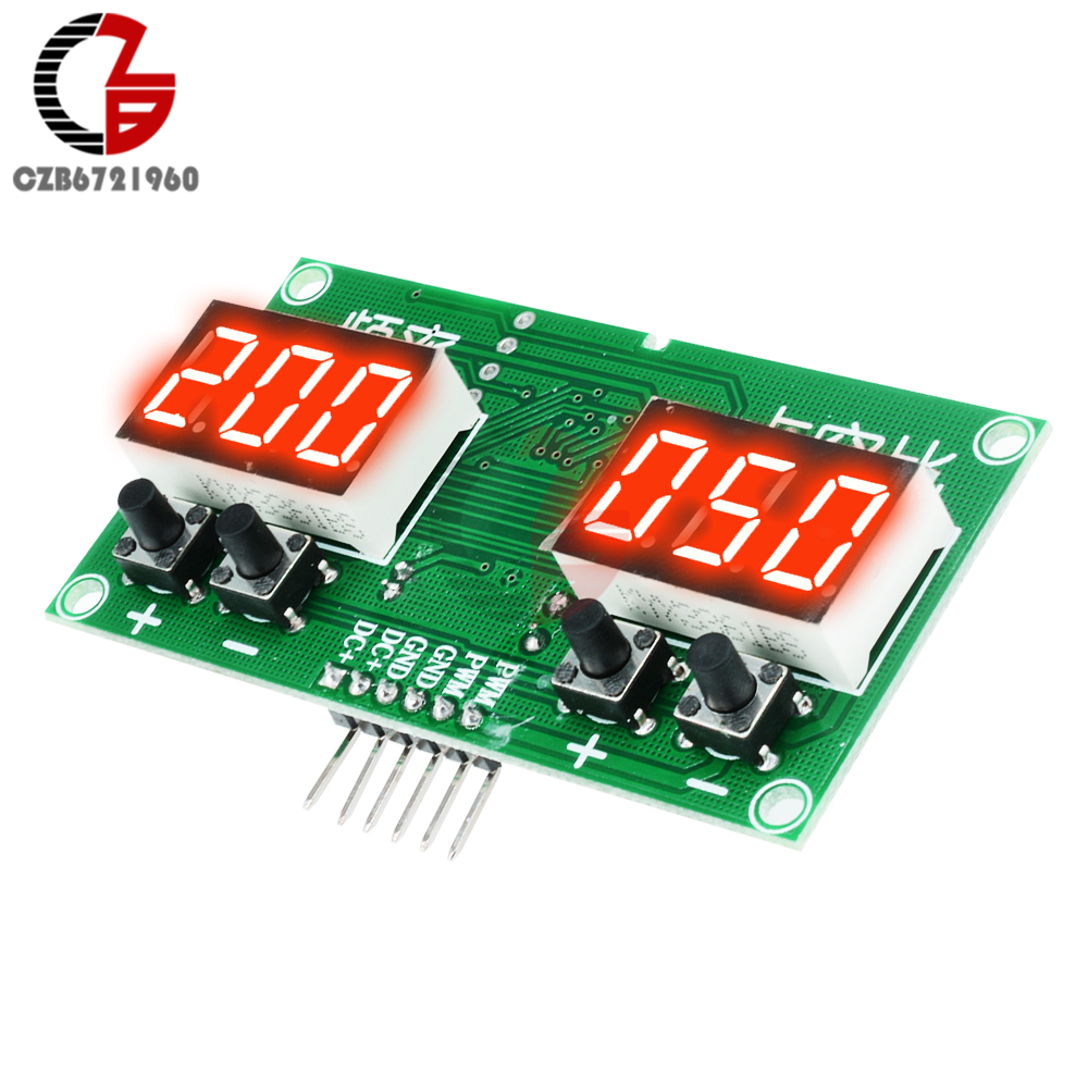 DC 12V LED Digital PWM Pulse Frequency Function Signal Generator Square Wave Rectangular Wave Duty Cycle kwx03 square wave signal source frequency dutycycle adjustable 0 1hz 34khz digital display