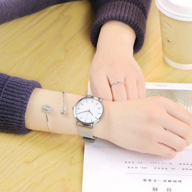 2019 women watches bracelet watch ladies vansvar Casual Quartz Stainless Steel B