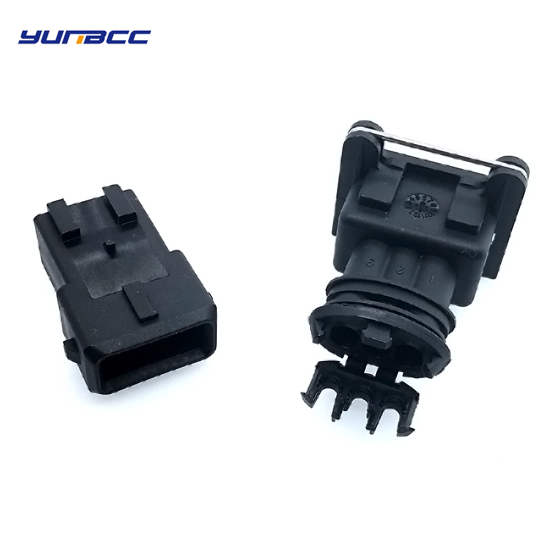 2sets 3 Pins Tyco Amp Junior Power Timer JPT Automotive MAP Sensor Connector 282191-1 282729-1