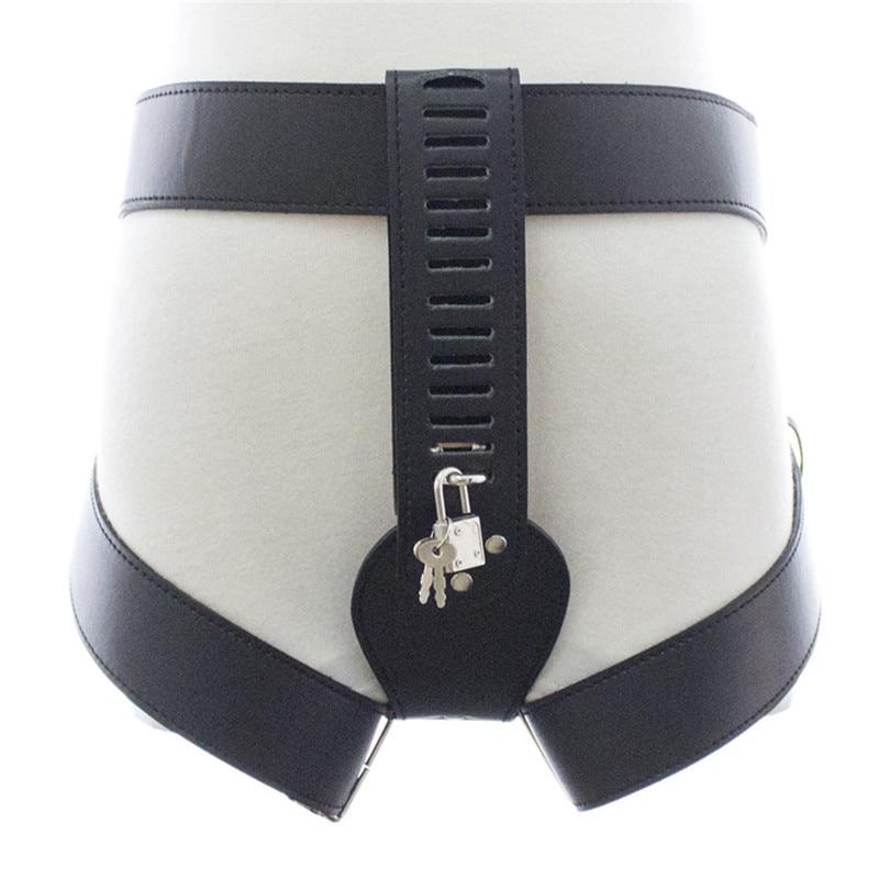 Female Chastity Belt Erotic Adult Games PU Leather Female Lock Sex Fetish Bondage Restraint Sex Toys