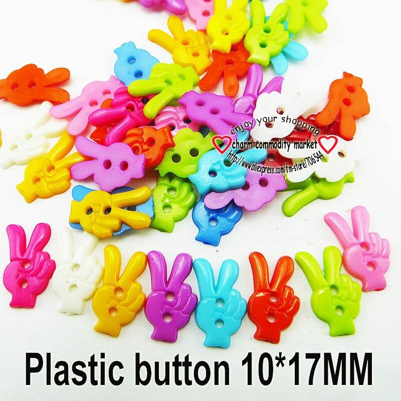 АКЦИЯ 100 шт смешанные формы много цветов Сделай Сам Скрапбукинг Мультяшные кнопки пластиковые кнопки детская одежда швейные принадлежности P-001 - Цвет: 18