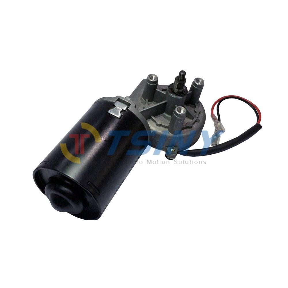 Couple élevé 6N. m DC Ver Motoréducteur 12 v 50 rpm Garage Porte Remplacement Angle Droit Réversible Électrique Droit Boîte De Vitesses