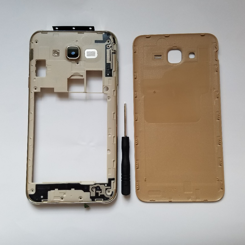 For Samsung Galaxy J7 Neo J701 J701F J701M Original Phone Chassis Case Housing Middle Frame With Rear Battery Door Back Cover