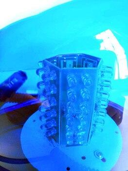 Luz Estroboscópica Led Azul Amarillo Para El Techo Del Coche Luz Redonda Intermitente Luz De Advertencia Camión Vehículo Policía Lámpara De Señal De Emergencia 12V V/24 V