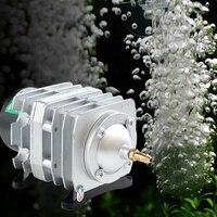 Super Power 70l/min 45 w Electromagnética Acuario Bomba de Aire Del Compresor de Aire Del Tanque de Pescados de Oxígeno Bomba de Aire Con Aire divisor de la Válvula