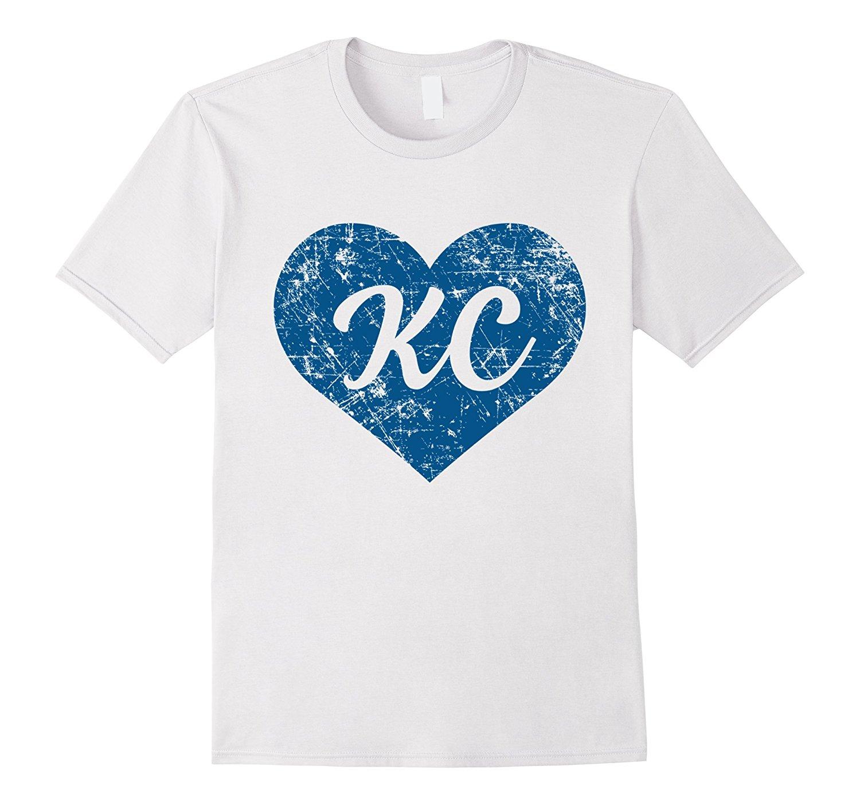 Kc Heart T Shirt I Love Kansas City Gift Fashion Men T Shirts Free