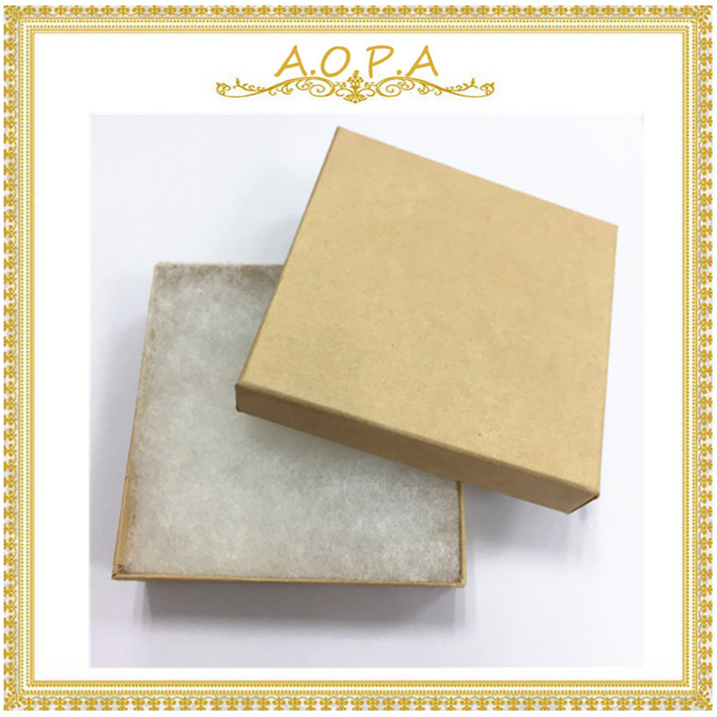 33 Free Shipping High Quality 50pcs Kraft Cotton Filled Paper Box From China For Jewelry